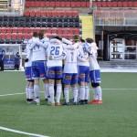 IFK Luleås U19-lag jublar efter mål i Ligacupen. FOTO: IFK Luleå