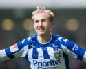 Benjamin Nygren, IFK Göteborg, en av målskyttarna när Sverige vann premiären i U17-EM. Foto: BILDBYRÅN