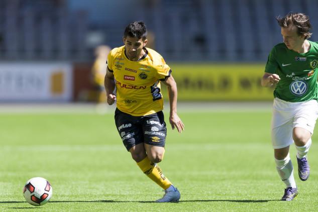 Elfsborgs Eduart Iljazi var tongivande i den första matchen i UEFA Youth League. Foto: BILDBYRÅN (Arkiv)