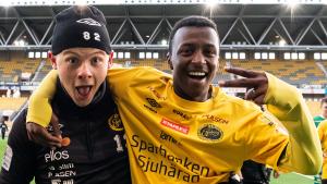 U17 Awil Hassan och Filip Gustafsson