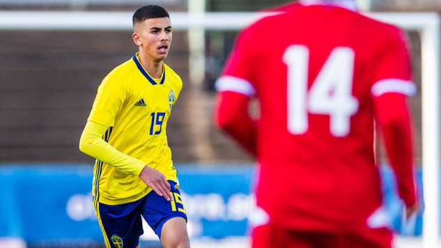 180930 Sveriges Hussein Ali under EM-kvalmatchen  i fotboll mellan Sverige - Lichtenstein den 30 september 2018 i Uddevalla. Foto: MATHIAS BERGELD / BILDBYRÅN / Cop 200