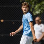 Malmö FFs Oscar Uddenäs under fotbollsmatchen i U21 Allsvenskan södra mellan Malmö FF och Kalmar den 16 juli 2018 i Malmö. Foto: Ludvig Thunman / BILDBYRÅN / kod LT / 35505